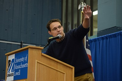 MSNBC's Steve Kornacki analyzed the 2016 presidential election at UMass Lowell