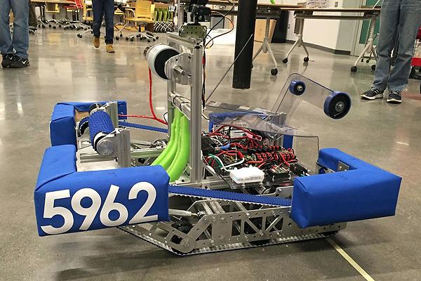 Student-designed robot