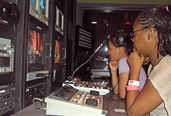 Young filmmakers get an opportunity to hone their skills in a professional media studio.