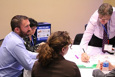 Workshop-goers brainstorm on sustainability