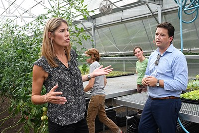 U.S. Rep Lori Trahan visits the Urban Agriculture Greenhouse