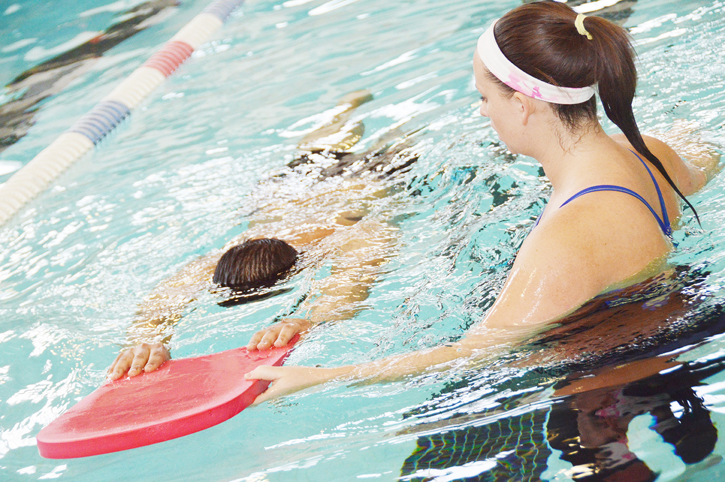Student Learning to Swim