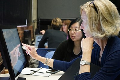 Faculty learn Sony Vision Exchange in the Faculty Sandbox