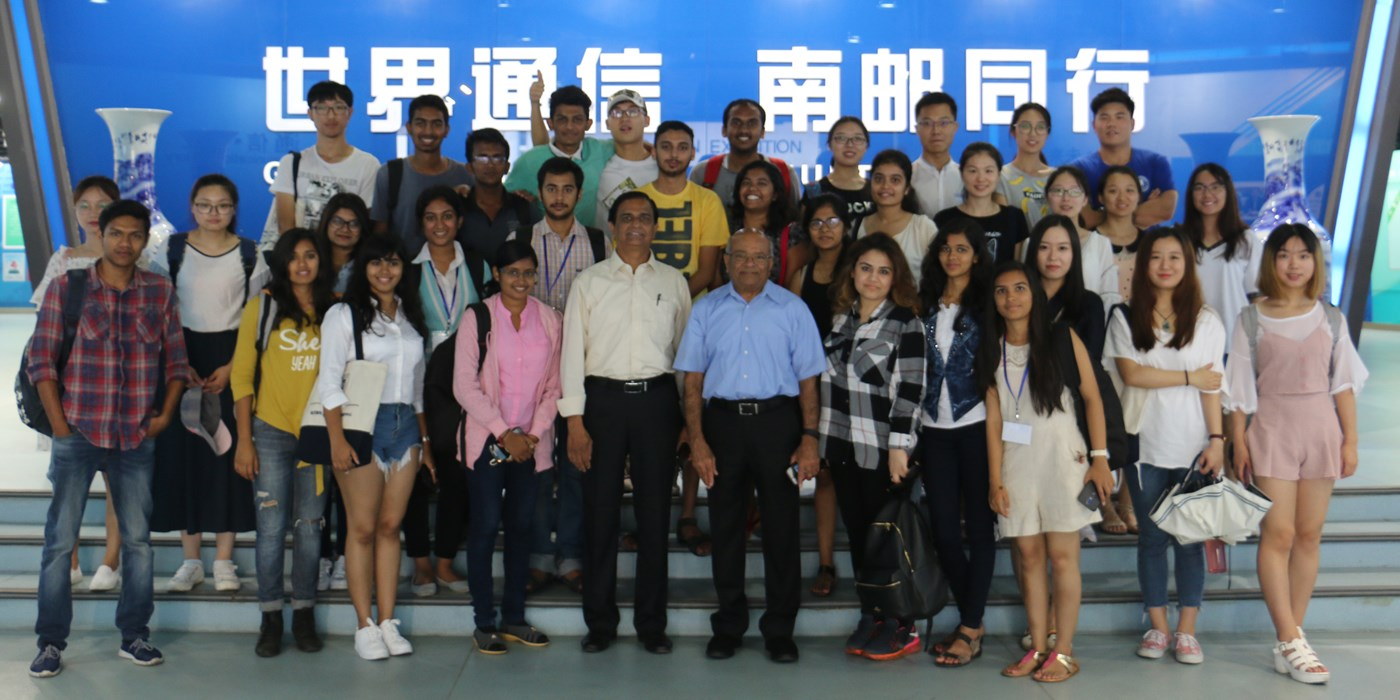 Professor Ashwin with Students in China