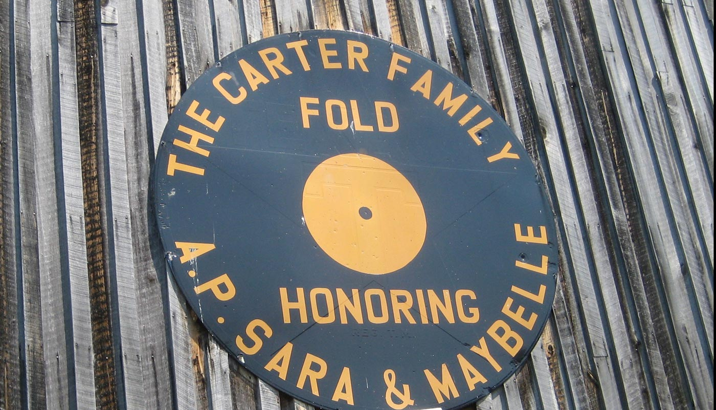 Carter Family Fold Sign