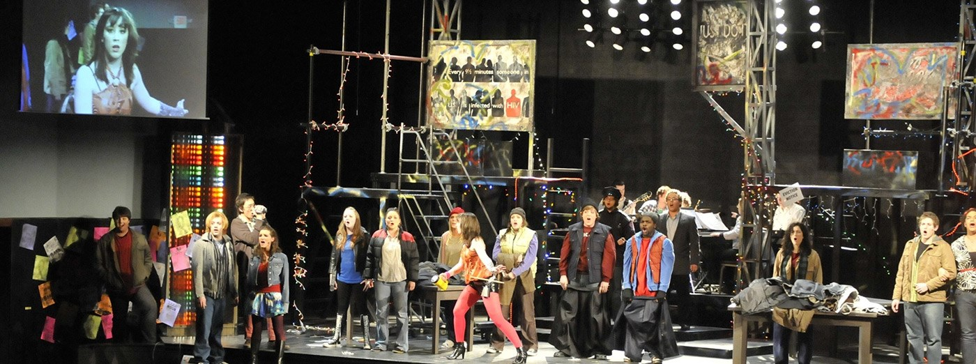 "Theatre Arts production of ""Rent""."