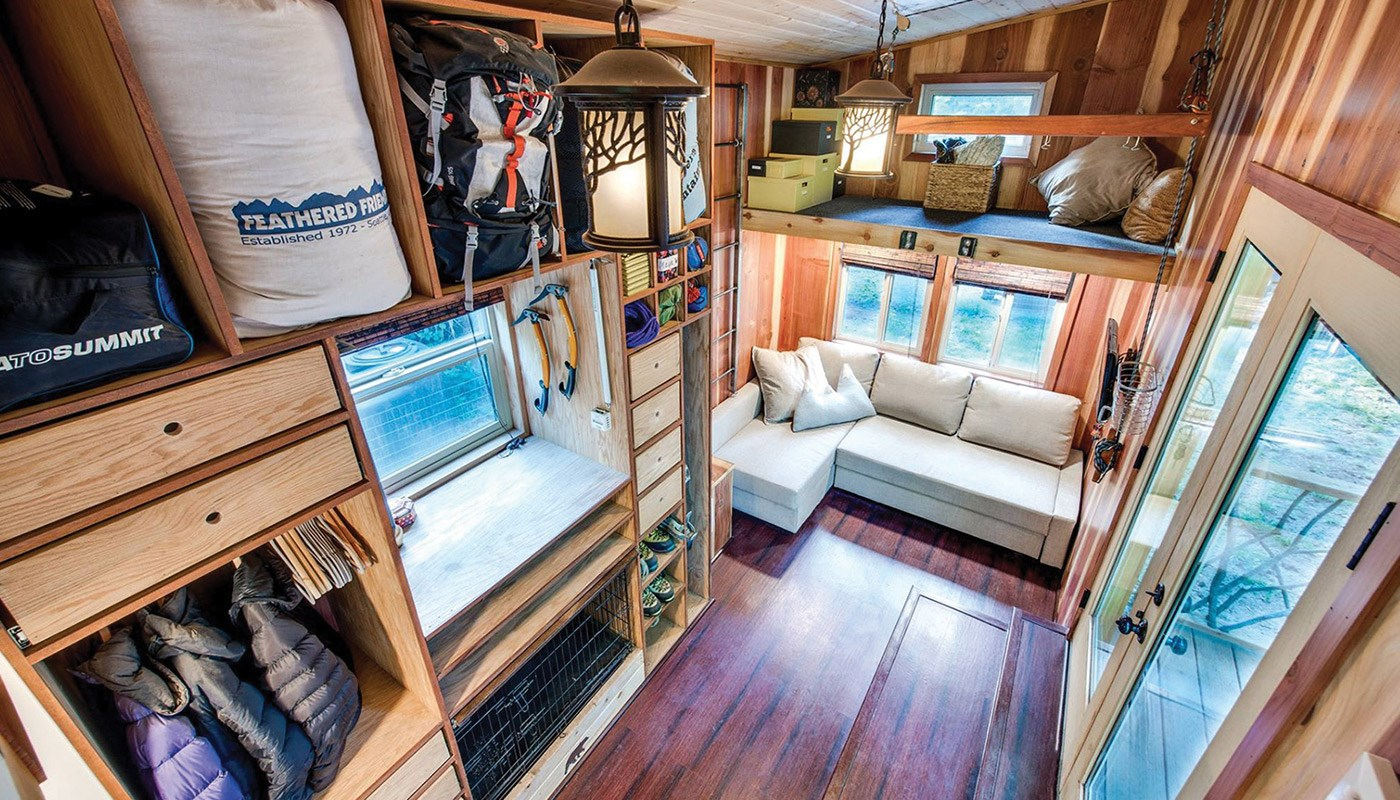 Storage spaces in tiny house