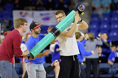 students launch tshirts during deans cup challenge
