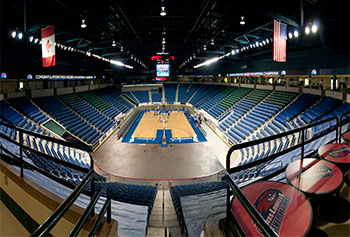 The men's and women's basketball teams will begin playing some games on the new Kennedy Family Court at the Tsongas Center.