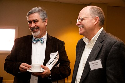 UMass Lowell Economics Research Prof. David Turcotte (right) with Asst. Teaching Prof. in Sociology Thomas Pineros-Shields