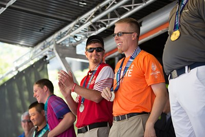 Tyler Lagasse ties for silver at the 2018 Special Olympics USA Games with Peter Condon