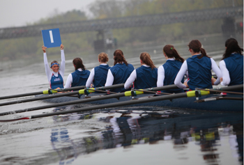 The women's crew team had several strong showings at this year's Textile River Regatta.