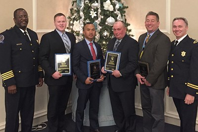 Members of the UML Police Department at the annual MACLEA awards