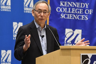 Steven Chu, Ph.D., delivers the 2016 Tripathy Endowed Memorial Lecture.