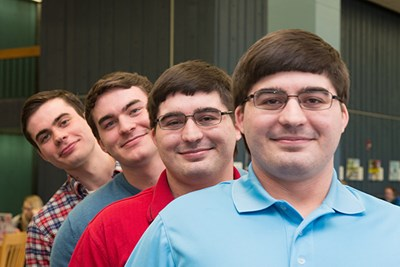 Four Forsyth brothers all study engineering at UMass Lowell.