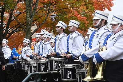 The UML Marching Band at Homecoming