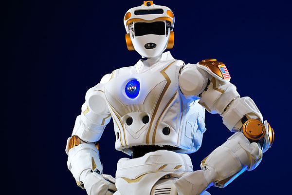 """Valkyrie,"" NASA's latest generation of humanoid robots, stands 6 feet, 2 inches tall and weighs about 300 pounds."
