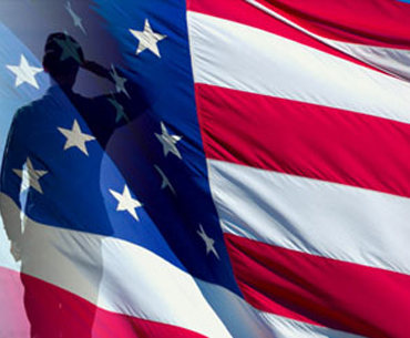 UMass Lowell Veterans Services American Flag