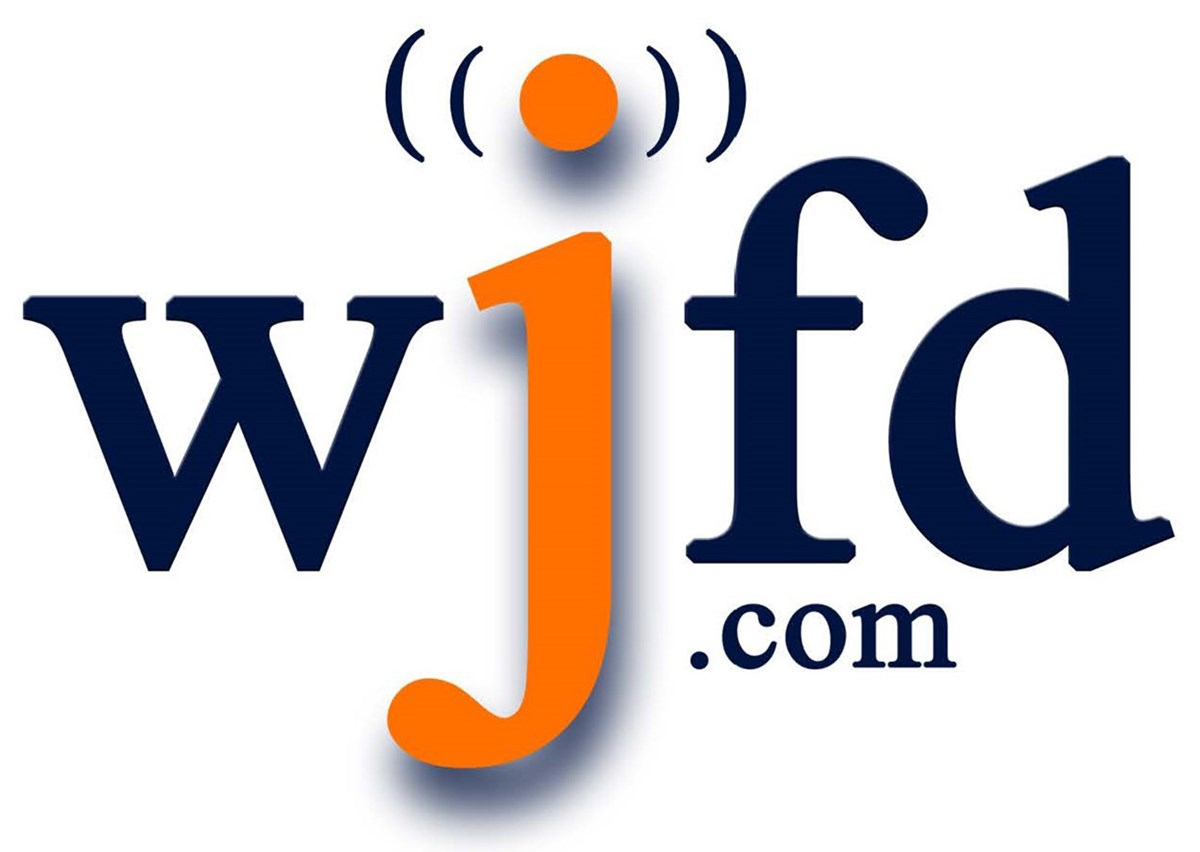WJFD logo. WJFD 97.3 is the only 50,000-watts FM radio station in New England broadcasting in the Portuguese language 24/7/365.