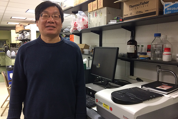 Chemistry Prof. Yuyu Sun is using nanotechnology to create better textile dyes.