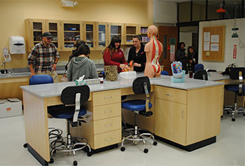 The new anatomy and physiology instructional lab at Weed Hall helps accommodate the growing health sciences enrollment.