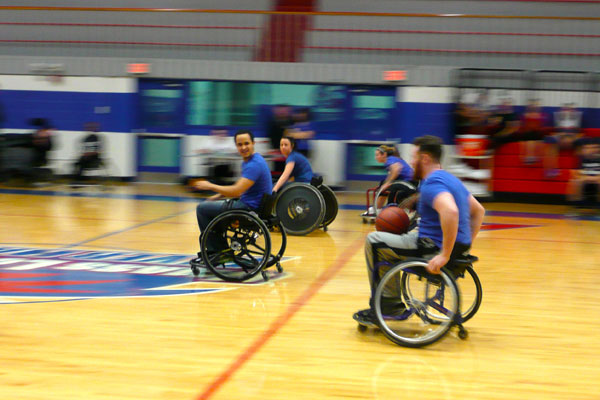 Students in UMass Lowell's Physical Therapy Club will play a game of wheelchair basketball on Friday, Oct. 20 at the Campus Recreation Center. The event is open to the public.
