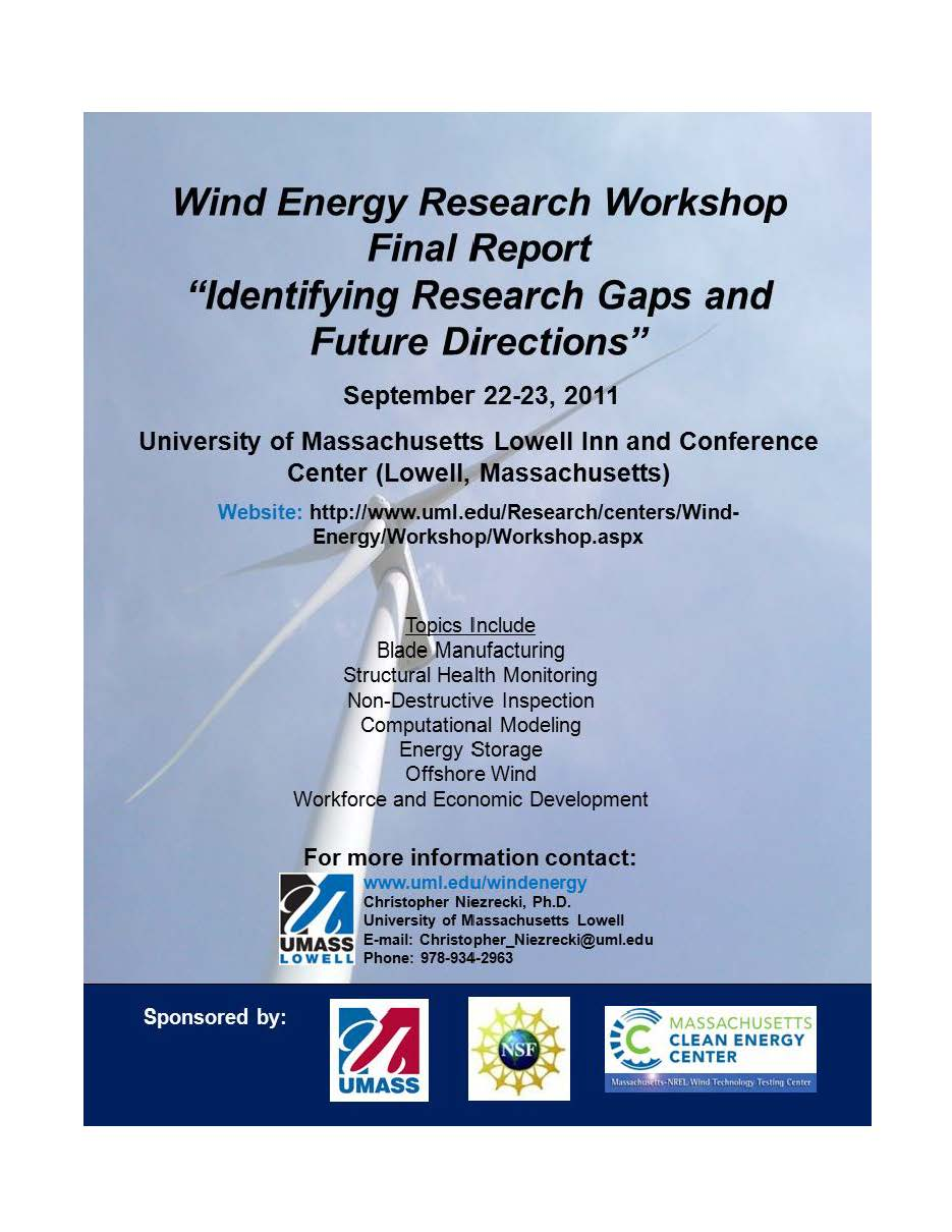 Wind Energy Workshop Report Cover Page