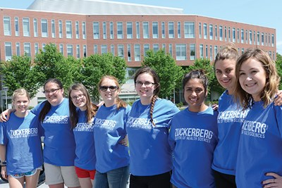 Students gather for the May 18 dedication of the Zuckerberg College of Health Sciences