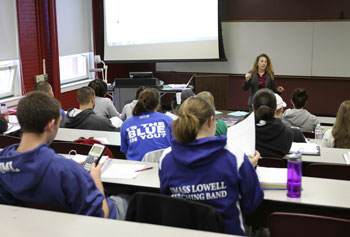 Students enrolled in the new Master of Science in Accounting program can take classes on campus and online.