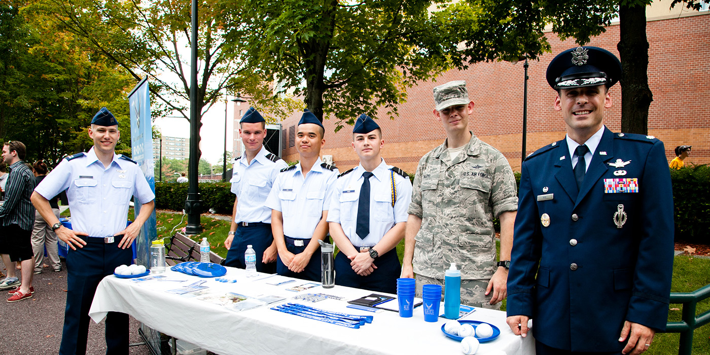 Air Force ROTC at the Club Fair and Welcome BBQ.