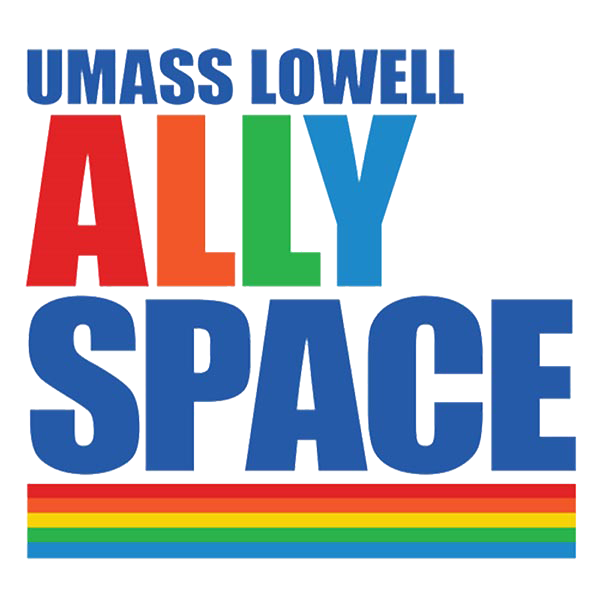 Ally Space logo. UMass Lowell commits to creating an inclusive culture that is welcoming and validating of all identities within the LGBTQ+ community. In accordance with this goal, the university has organized resources throughout campus to support LGBTQ+ students, faculty, and staff. It has also created programs to help educate and provide resources for other members of the campus community to provide effective allyship.