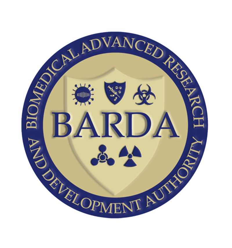 Logo for BARDA - Biomedical Advanced Research and Development Authority. The Biomedical Advanced Research and Development Authority (BARDA) is a U.S. Department of Health and Human Services office responsible for procurement and development of countermeasures principally against bioterrorism, but also including chemical, nuclear and radiological threats as well as pandemic influenza and emerging diseases.