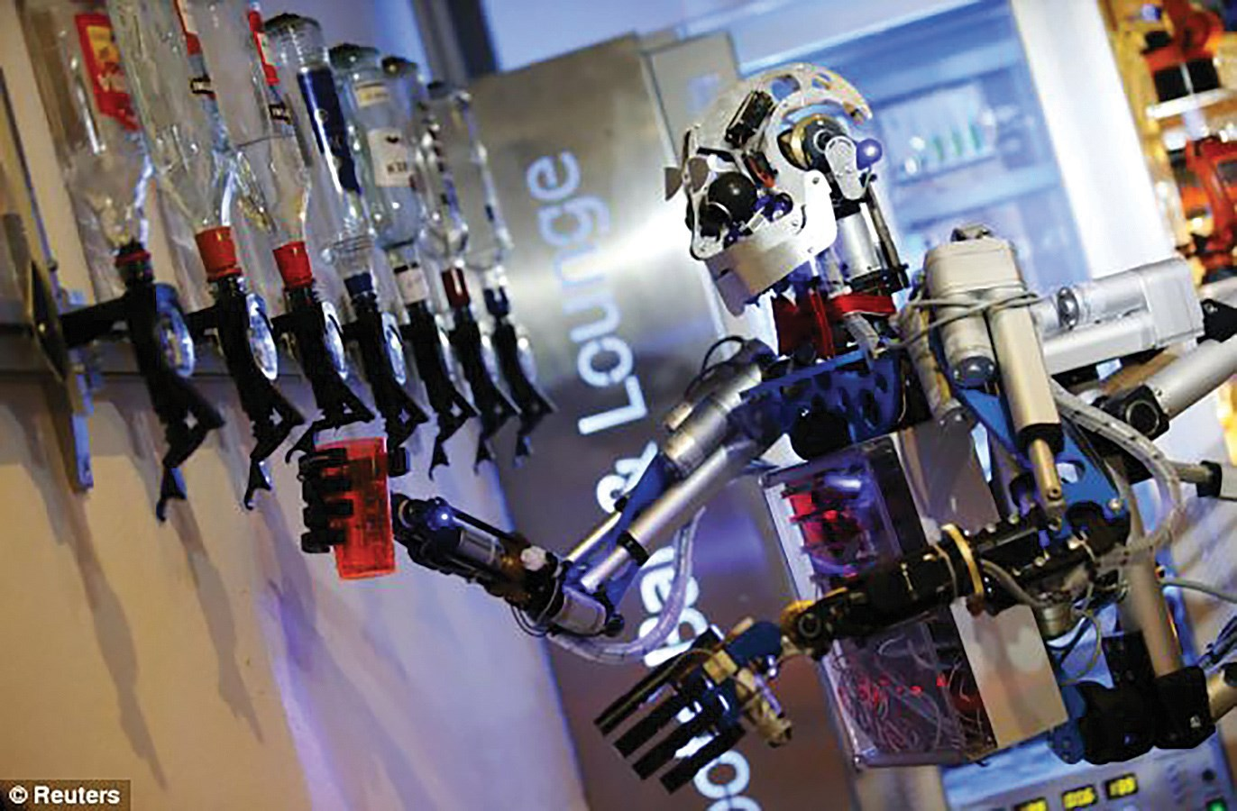 A robot tends bar in Germany