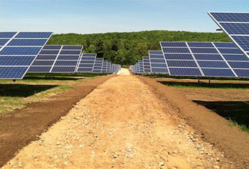 First Wind's 14-megawatt solar project in Warren just went online earlier this month.