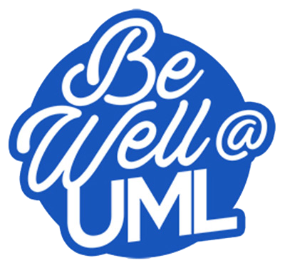 Be Well at UML (UMass Lowell) Logo in blue