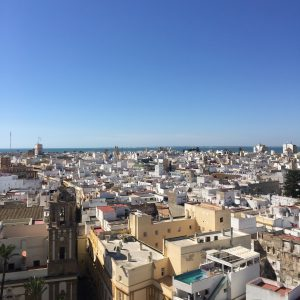 A view from the Cathedral tower in Cadiz, Spain