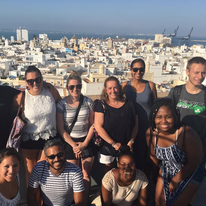 UMass Lowell students in Cadiz in 2019