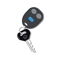 An illustration of car keys