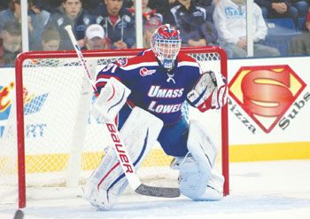 Sophomore goaltender Doug Carr is a major reason the UMass Lowell hockey team is soaring. His goals against average of 1.88 is third best in the nation.