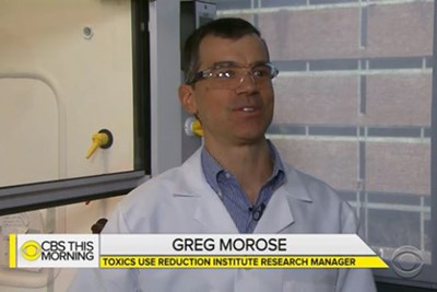 UMass Lowell TURI Research Manager Greg Morose on CBS This Morning