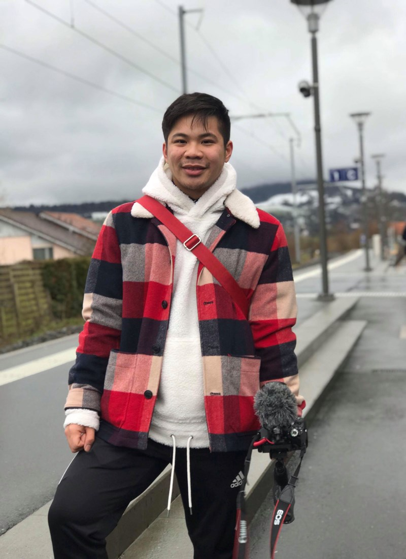 A photo of UMass Lowell student Chummeng Soun, a junior who is pursuing his bachelor of liberal arts degree in Asian studies and digital media, in his native city of Lowell