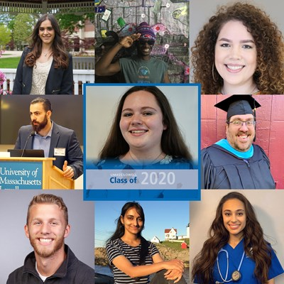 A collage of photos of 2020 graduates.
