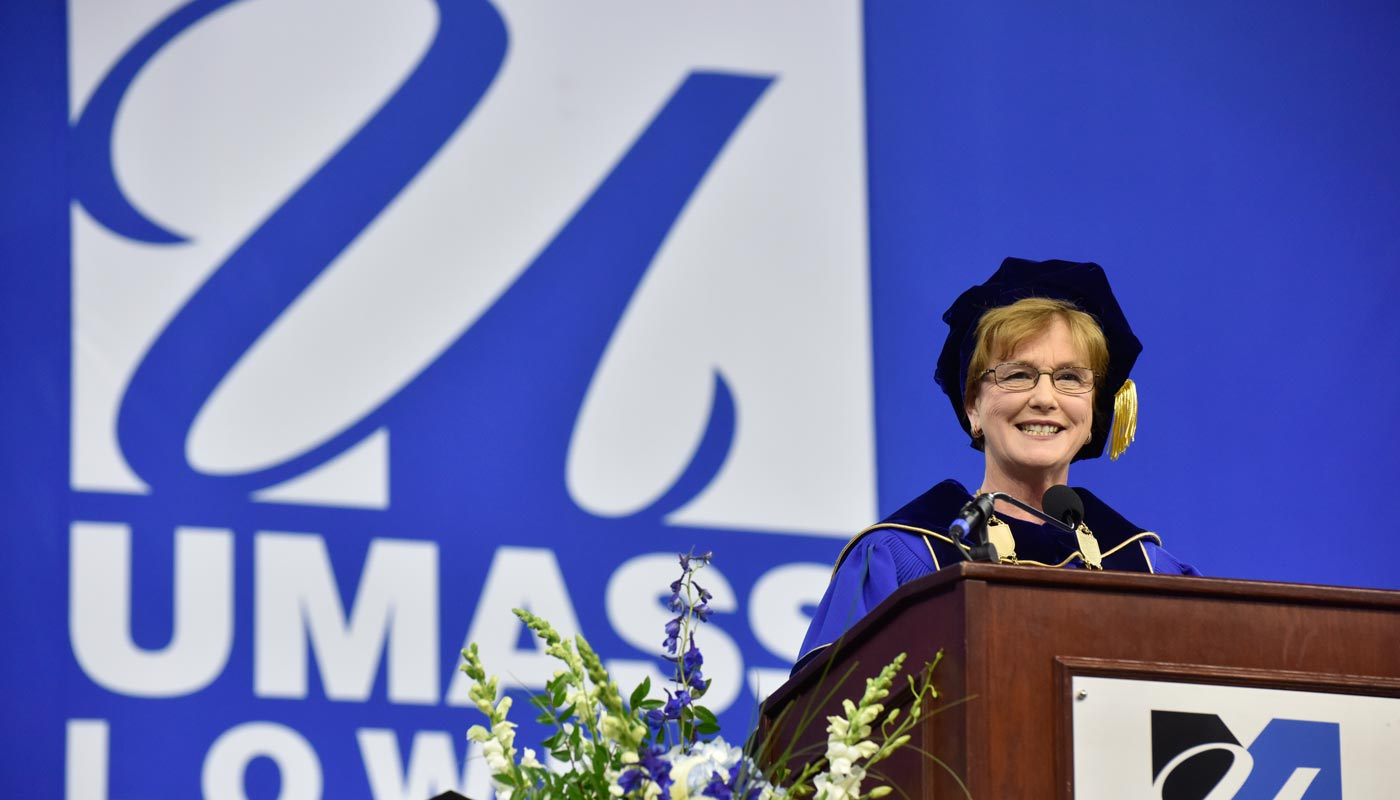 Chancellor Moloney at commencement.