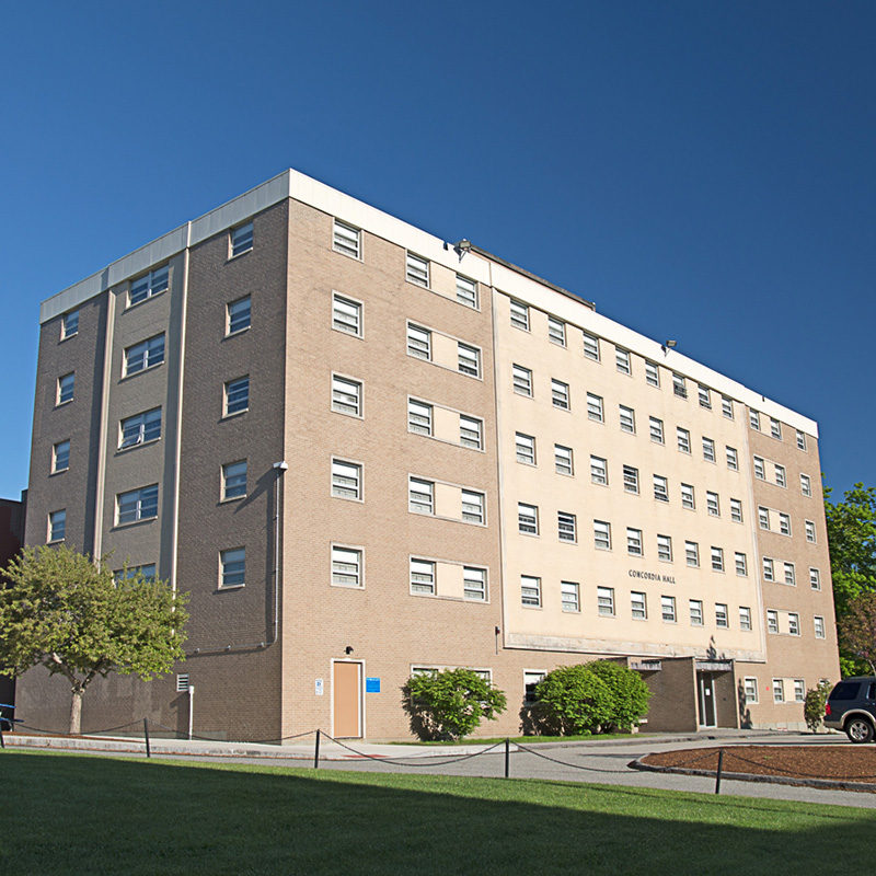 Concordia Hall is a student residence hall on the UMass Lowell campus