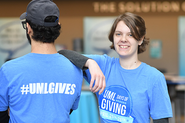 UMass Lowell's annual Days of Giving event will raise funds for student scholarships and a variety of university programs.