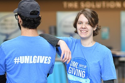 Students in Days of Giving T-shirts