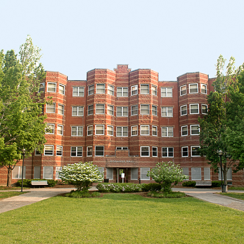 Donahue Hall is a student residence hall on the UMass Lowell campus