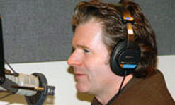 "Andre Dubus III's memoir ""Townie"" has garnered interest from a variety of publications. He is shown here recording an introduction for an upcoming piece in Vanity Fair."