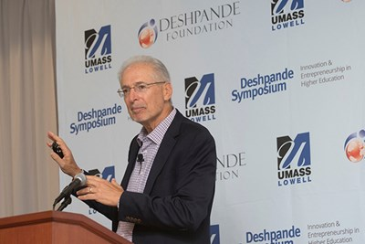 Jerry Engel gives one of three keynotes talks during the Deshpande Symposium