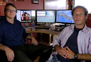 "Nathan Hendrie and Chad Montrie of Tower Hill Films at 60 Island St., Lawrence produced the documentary, ""Tough Love,"" a meditation on dominance and dogs."
